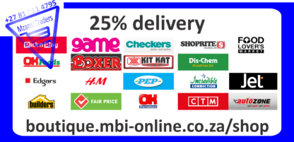 Mzansi Traders one Stop Shop - 25% delivery